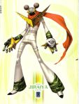 artbook highres jiraiya_(persona) jiraiya_(persona_4) official_art persona persona_4 scan scarf soejima_shigenori