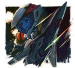 explosion flightsuit helmet macross macross_frontier mecha missile n.u.n.s. pilot_suit space spacesuit vajra vf-171