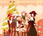 christmas_tree flandre_scarlet highres hong_meiling izayoi_sakuya koakuma patchouli_knowledge remilia_scarlet sugi touhou