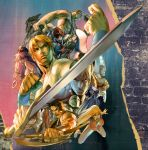 aqua_eyes armor bandage bandages bare_legs bare_shoulders blonde_hair breasts brown_hair cap capcom chad_walker cleavage clenched_hand cody_travers cuffs earrings facepaint final_fight gai_(final_fight) gammon handcuffs hat hatchet hugo_andore jewelry large_breasts lipstick lizard long_hair looking_at_viewer makeup mike_haggar muscle necklace open_mouth pink_hair poison_(final_fight) signature sword tank_top topless very_long_hair weapon