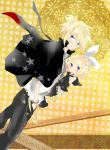 1boy 1girl blonde_hair brother_and_sister child couple incest kagamine_len kagamine_rin loli short_hair siblings twincest twins vocaloid