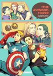 6+boys avengers bird black_hair blonde_hair brown_hair bruce_banner captain_america character_doll clint_barton cover cover_page doughnut doujin_cover duck facial_hair glasses hammer helmet hulk iron_man loki_(marvel) minihardee multiple_boys mustache natasha_romanoff red_hair redhead salute shield short_hair steve_rogers stubble superhero thor_(marvel) tony_stark