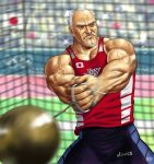 2012_summer_olympics beard copyright_request facial_hair hammer_throw male manly matataku muscle old_man olympics realistic