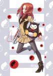 bird brown_hair drill_hair mawaru_penguindrum natsume_masako pantyhose penguin sanmi_tenten