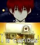 1boy curiosity_(mars_rover) curious hyouka mars mars_science_laboratory nasa parody personification pun red_eyes red_hair redhead style_parody