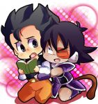 blush chibi dragonball nervous reading son_gohan turles