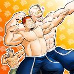 abs alex_louis_armstrong fullmetal_alchemist halo heymans_breda male multiple_boys muscle posing roa shirtless spoilers zelo-lee