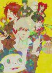 4girls absurdres amagi_yukiko bad_id bear black_hair blonde_hair blue_hair brown_hair everyone glasses grey_hair hanamura_yousuke highres hiroshi_kichi kujikawa_rise kuma_(persona_4) long_hair multiple_boys multiple_girls narukami_yuu persona persona_4 red_hair redhead satonaka_chie shirogane_naoto short_hair straight_hair tatsumi_kanji wavy_hair