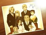 4girls ahoge alphonse_elric brown child dated edward_elric family fullmetal_alchemist good_end may_chang miso_(itsuha) multiple_boys multiple_girls photo_(object) signature sitting spoilers time_paradox trisha_elric van_hohenheim winry_rockbell