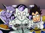 captain_ginyu controller dragon_ball dragonball frieza highres snes surprised vector vector_trace vegeta wallpaper