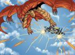 battle chase dogfight dynamic garuda godzilla_(series) jet laser_cannon rodan