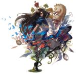 alice alice:_madness_returns alice_(wonderland) alice_in_wonderland alice_liddell american_mcgee's_alice apron black_hair boots butterfly card cards crown dress fish fork green_eyes green_yes knife long_hair mushroom pantyhose snail solo spoon stopwatch striped striped_legwear thighhighs watch weapon yang_niangniang