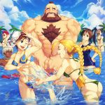 6+girls ass beach beard bikini black_hair blonde_hair blue_eyes blush braid breasts brown_hair cammy_white chest_hair chun-li closed_eyes clothed_female_nude_male covering covering_crotch crimson_viper dark_skin double_bun elena embarrassed extreme_muscles eyes_closed facial_hair ginilla_(saiyagina) huge_ass ibuki kasugano_sakura long_hair male multiple_girls muscle nipples nude odd_one_out palm_tree red_hair redhead scar short_hair single_braid splashing street_fighter street_fighter_iii street_fighter_iv street_fighter_zero sunglasses super_street_fighter_iv swimsuit tree twin_braids twintails wading water white_hair wink zangief