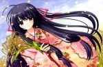 akita_komachi japanese_clothes kimono long_hair marriage_royale nishimata_aoi purple_eyes purple_hair ribbons violet_eyes