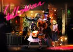 alphonse broom cat halloween hat hatsune_miku kagamine_len kagamine_rin kaito pumpkin vocaloid witch witch_hat