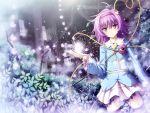 blush eyes hairband heart komeiji_satori purple_eyes purple_hair short_hair skirt thigh-highs thighhighs touhou zettai_ryouiki