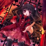 frills gothic gothic_lolita loli lolita_fashion long_hair lowres red_eyes skirt thigh_highs thighhighs twintails