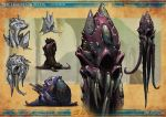 concept_art dated monster no_humans octorok post-apocalypse sean_ng tentacles the_legend_of_zelda
