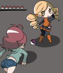 ace_trainer_(pokemon)_(cosplay) boots drill_hair hoshino. look-alike mahou_shoujo_madoka_magica master_ball pantyhose parody poke_ball pokemon pokemon_(game) pokemon_bw sakura_kyouko tomoe_mami touko_(pokemon) touko_(pokemon)_(cosplay) twin_drills