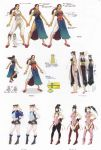 absurdres alternate_costume alternate_hairstyle bangle bare_legs boots bracelet breasts brown_hair capcom capri_pants china_dress chinese_clothes chun-li concept_art cropped_jacket cross-laced_footwear cuffs double_bun hair_down hair_ribbon hair_up handcuffs high_heels highleg highleg_panties highres jewelry lace-up_boots long_hair midriff miniskirt necklace official_art panties police police_uniform policewoman ribbon sash shoes side_slit skirt sleeveless street_fighter street_fighter_iv thick_thighs thigh-highs thigh_boots thighs toned translation_request twintails underwear uniform