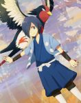 armband blue_eyes blue_hair hair_over_one_eye hayato_(pokemon) holding holding_poke_ball male poke_ball pokemon pokemon_(game) pokemon_hgss smile swellow