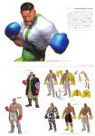 abs absurdres alternate_costume argyle blue_eyes bodysuit boots bowtie boxing_gloves capcom concept_art dark_skin dudley facial_hair highres jacket jewelry lightning_bolt muscle mustache necklace official_art overcoat shirtless short_hair shorts solo spandex street_fighter street_fighter_iv translation_request