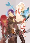 aqua_(tales_of_symphonia) blonde_hair blue_eyes decus glasses gloves green_eyes purple_hair red_hair redhead richter_abend shihage tail tales_of_(series) tales_of_symphonia tales_of_symphonia_knight_of_ratatosk