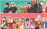 6+girls amagi_yukiko amagi_yukiko_(cosplay) antonio_lopez_(cosplay) barnaby_brooks_jr barnaby_brooks_jr_(cosplay) cosplay costume_switch crossover dango food hanamura_yousuke hanamura_yousuke_(cosplay) houndstooth huang_baoling ivan_karelin ivan_karelin_(cosplay) jacket kaburagi_t_kotetsu kaburagi_t_kotetsu_(cosplay) karina_lyle karina_lyle_(cosplay) keith_goodman keith_goodman_(cosplay) kujikawa_rise kujikawa_rise_(cosplay) kuma_(persona_4) kuma_(persona_4)_(cosplay) multiple_boys multiple_girls narukami_yuu narukami_yuu_(cosplay) nathan_seymour nathan_seymour_(cosplay) persona persona_4 sakazakimay satonaka_chie satonaka_chie_(cosplay) school_uniform shirogane_naoto shirogane_naoto_(cosplay) tatsumi_kanji tatsumi_kanji_(cosplay) tiger_&_bunny wagashi wavy_mouth