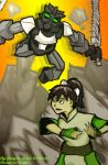 battle bionicle crossover epic toa_onua toph_bei_fong