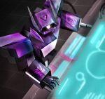 80s armcannon cable console decepticon kagami_rei logo mecha oldschool realistic robot science_fiction screen shockwave_(transformers) transformers