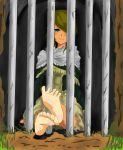 bars blue_eyes blush cage capelet dark_souls feet i_b_b_e smile soles toes