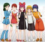 aoki_reika boots braid broom brown_hair cosplay dress dress_tug ereka facepaint hat headdress hino_akane hoshizora_miyuki kaze_no_tani_no_nausicaa kiki kiki_(cosplay) kise_yayoi kusakabe_mei kusakabe_mei_(cosplay) long_hair majo_no_takkyuubin midorikawa_nao mononoke_hime multiple_girls nausicaa nausicaa_(cosplay) open_mouth precure san san_(cosplay) sheeta sheeta_(cosplay) short_twintails smile smile_precure! studio_ghibli tenkuu_no_shiro_laputa twin_braids twintails v