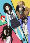 black_hair casual chitanda_eru detective highres hyouka iyakun kimi_ni_matsuwaru_mystery long_hair multiple_persona purple_eyes school_uniform serafuku shoulder_angel violet_eyes