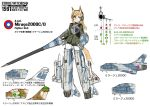 lance mirage2000 mirage_2000 missile ogitsune_(ankakecya-han) pantyhose polearm shield strike_witches strike_witches_1991 striker_unit tail translated translation_request uniform weapon