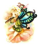 bow_(weapon) butterfly_wings crossbow fairy flower mercedes odin_sphere solo sui_(petit_comet) weapon wings