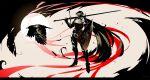 arsenixc bird breastplate cape crow dark_souls faulds full_armor gauntlets greaves helm helmet highres long_sword over_shoulder pauldrons shield solo sword weapon weapon_over_shoulder