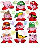 :3 :d :o arm_up backwards_hat baseball_cap blue_eyes blush_stickers censored character_name company_connection donkey_kong donkey_kong_(series) fake_censor fox_mccloud hat jigglypuff kirby kirby_(series) link looking_at_viewer looking_away luigi mario metroid mother_(game) mother_2 ness nina nintendo no_humans open_mouth pikachu pokemon samus_aran simple_background smile star_fox super_mario_bros. super_smash_bros. the_legend_of_zelda white_background yoshi zero_suit