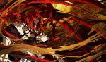 armor g_yuusuke game_cg kajiri_kamui_kagura male red_eyes red_hair redhead weapon