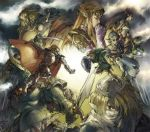 beard blonde_hair blue_eyes cape closed_eyes darunia eyes_closed facial_hair ganondorf gloves green_hair hat horn impa link long_hair monster nabooru navi ocarina_of_time pointy_ears ponytail princess_ruto princess_zelda rauru red_eyes red_hair redhead saria sheik shield sword the_legend_of_zelda tiara weapon