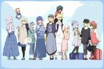 6+girls :d ^_^ alice_margatroid alternate_costume alternate_headwear animal_ears apron backpack bag beret black_legwear blonde_hair blue_dress blue_hair boots bow brown_eyes brown_hair carrying casual cat_ears cat_tail chen closed_eyes collarbone contemporary crescent dress eyes_closed fairy_wings fox_ears fox_tail hair_bow hair_ornament hairband hand_on_own_face hands_together happy hat holding instrument jacket jewelry konpaku_youmu konpaku_youmu_(ghost) leggings letty_whiterock lily_white long_hair lunasa_prismriver lyrica_prismriver merlin_prismriver multiple_girls multiple_tails necklace no_hat no_headwear open_mouth pantyhose perfect_cherry_blossom piggyback pink_hair pointing ribbon ring saigyouji_yuyuko sandals shanghai shanghai_doll short_hair shoulder_carry siblings silver_hair sisters smile standing star striped suitcase tail thighhighs tiptoes touhou trumpet very_long_hair waist_apron wings yakumo_ran yakumo_yukari yellow_eyes zettai_ryouiki