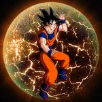 1boy black_eyes black_hair dragon_ball goku short_hair solo