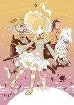 ^_^ akemi_homura anthony_(madoka_magica) arms_up blonde_hair blue_hair bonnet candeloro closed_eyes drill_hair eyes_closed facial_hair glasses hat homulilly horse jpeg_artifacts kaname_madoka kriemhild_gretchen kyubey long_hair magical_girl mahou_shoujo_madoka_magica miki_sayaka mouth_hold multiple_girls mustache oktavia_von_seckendorff ophelia_(madoka_magica) outstretched_arms personification pink_hair pocky ponytail red_eyes red_hair redhead sakura_kyouko soul_gem spoilers string striped striped_legwear thigh-highs thighhighs tomoe_mami twin_drills twintails walpurgisnacht_(madoka_magica) witch_hat yellow_eyes yoshinogai  _ 