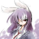 blazer bullet bunny_ears izumi_yuuji izumi_yuuji_(trace_kouhosei) long_hair necktie purple_hair rabbit_ears red_eyes reisen_udongein_inaba solo touhou