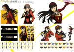 amagi_yukiko fan megaten official_art palette_swap persona persona_4 persona_4:_the_ultimate_in_mayonaka_arena school_girl school_uniform seifuku soejima_shigenori sweater