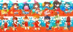 6+girls ahoge alternate_costume bangs basketball blue_(pokemon) brown_hair charmeleon cheerleader chibi croconaw crystal_(pokemon) dewott double_bun dual_persona espeon flareon glaceon grovyle hikari_(pokemon) hue_(pokemon) jolteon jumping jun_(pokemon) kotone_(pokemon) leafeon long_hair long_image mei_(pokemon) monferno multiple_boys multiple_girls n_(pokemon) ookido_green pokemon pokemon_(game) pokemon_bw pokemon_bw2 pokemon_dppt pokemon_frlg pokemon_gsc pokemon_hgss pokemon_rse ponytail quilava red_hair redhead rotasu servine shell silver_(pokemon) standing touko_(pokemon) twintails umbreon vaporeon wide_image yuuki_(pokemon)