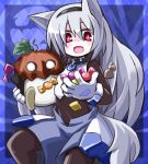candy exice-zero halloween highres kugelschreiber long_hair ogitsuki original red_eyes silver_hair tail ukagaka