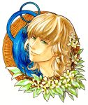 barnaby_brooks_jr blonde_hair colored_pencil_(medium) green_eyes highres marker_(medium) portrait solo tiger_&_bunny traditional_media u2suke