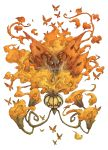 butterfly chandelure fire highres kuuneru pokemon shiny_pokemon volcarona