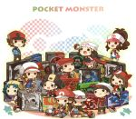 bosutafu chibi crystal_(pokemon) dual_persona gold_(pokemon) haruka_(pokemon) hikari_(pokemon) kotone_(pokemon) kouki_(pokemon) poke_ball pokemon pokemon_(game) pokemon_bw pokemon_dppt pokemon_frlg pokemon_gsc pokemon_hgss pokemon_rse red_(pokemon) red_(pokemon)_(remake) sitting smile touko_(pokemon) touya_(pokemon) twintails yuuki_(pokemon)