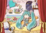 :3 ahoge animalization aqua_hair argyle argyle_background balloon bird birdcage boots cage cat chibi couch curtains detached_sleeves fishbowl food goggles goggles_on_head gumi hatsune_miku headset highres ice_cream ichinose_natsuki kagamine_len kagamine_rin kaito kamui_gakupo long_hair megurine_luka meiko musical_note necktie open_mouth outstretched_arm sitting skirt solo stuffed_animal stuffed_toy teddy_bear thigh-highs thigh_boots thighhighs twintails very_long_hair vocaloid window wooden_floor